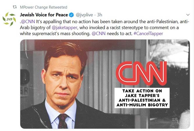 Blind Hate Drives Campaign to Fire CNN's Jake Tapper