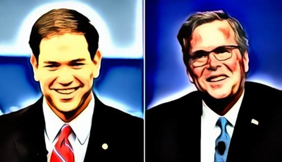 Bush's battle with Rubio has a familiar plot