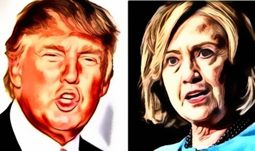 Donald Trump vs. Hillary Clinton --- Tough Feminist Hawk or Feminine Victim?