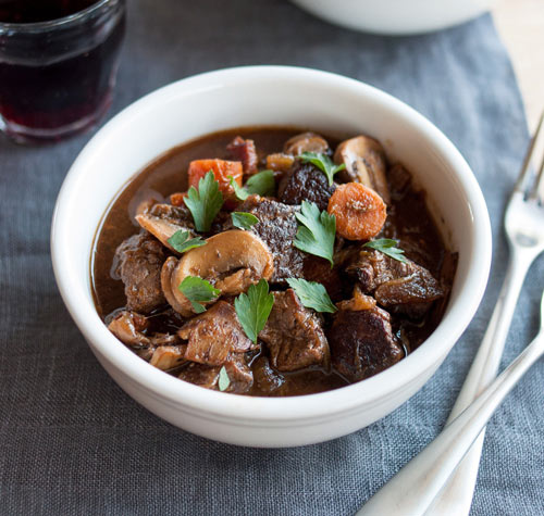 This thick, classic French stew builds flavor, layer upon layer. It's deeply savory aroma alone will make your eyes roll skyward, your knees go weak