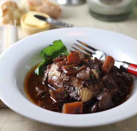 A 30-minute French dish of depth --- both flavor and sophistication: Coq au Vin
