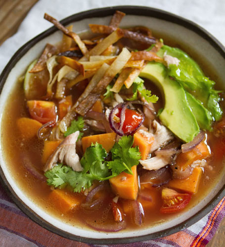 Hearty Mexican Chicken Soup is an easy, sumptuous and brightly flavored crowd pleaser