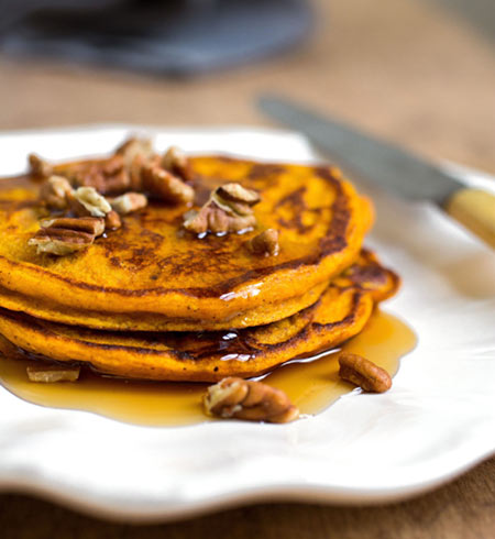 Bursting with fall flavors, these fluffy pumpkin pie pancakes will leave you with a smile of satisfaction