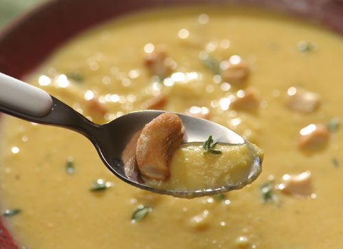 Squash and Parsnip Soup: Savory, simple, and extremely soothing on a cold winter night --- and just look at that picture!