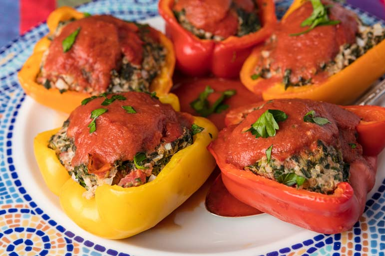 Stuffed, and still feeling good about it: Turkey-and-Quinoa Peppers