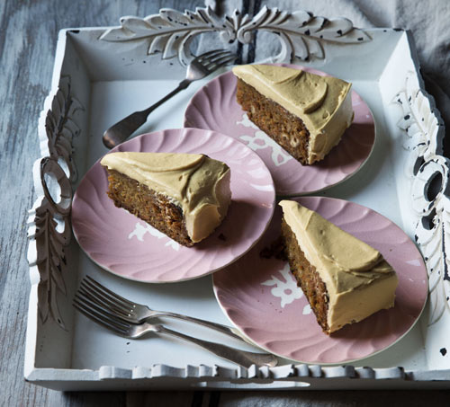 Moist but firm texture and haunting vegetal sweetness. Spring into the new season with this delicious carrot, Hazelnut and Ginger Cake