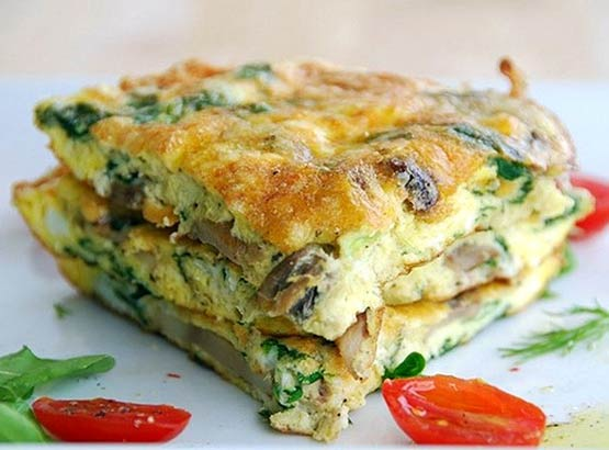 Mom will enjoy this more! Big flavor frittata is gourmet, gorgeous --- and easy