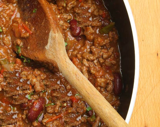A different sort of cholent: Smoky Beef and Black Bean Chili with Lime