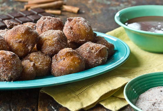 Nuggets of delight: Churro's crispy brown exterior gives way to a creamy, almost custard-like center, leaving you in deep-fried pastry heaven (Incl. 2nd recipe for Warm Chocolate Dipping Sauce)