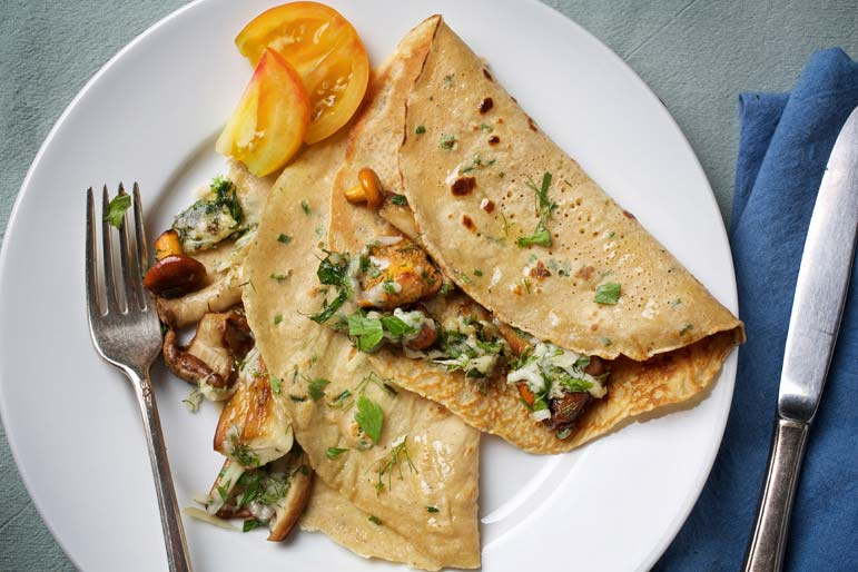 Treat yourself to crepes on a weeknight!