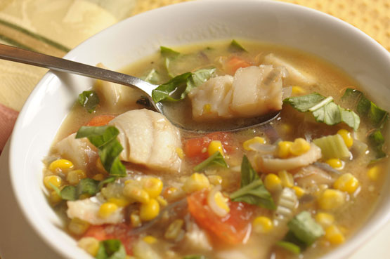Summer Fish Chowder is prized for its fresh flavor and quick, easy preparation