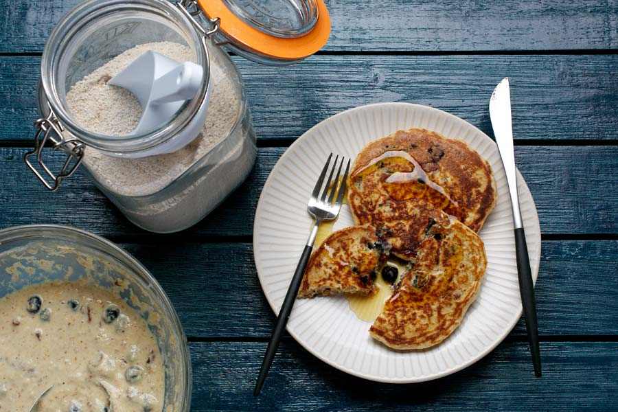 These DIY pancakes are not only deliciously extra rich, contain protein and healthful fat --- more importantly, they're also teenager-approved