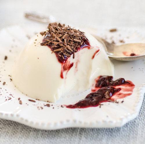 Luscious and creamy Panna cotta: The perfect dessert --- easy, quick, practically foolproof  (Adaptable to dairy-free and vegan diets)