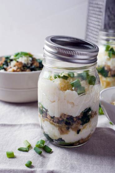 This parfait is different. VERY. Gorgeous, delish (savory) ---  as well as satisfying
