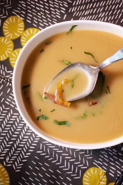 A relatively simple but powerfully flavored  stylish Scandinavian soup