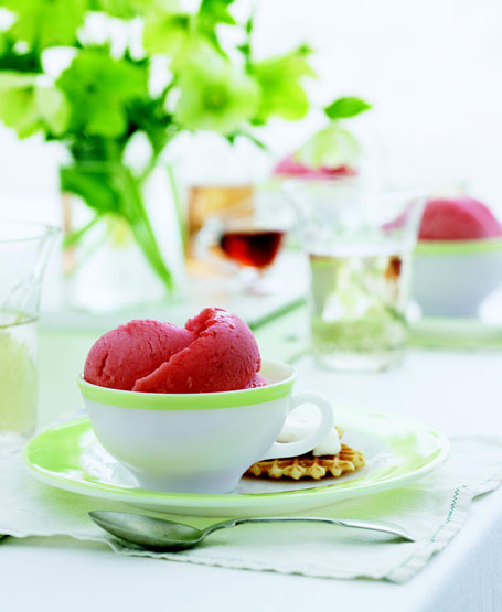 Big flavor without additional calories of milk or cream: Refreshing Sorbets are Quick Summer Desserts (2 recipes)