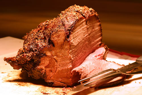 Succulent  standing Rib Roast with Horseradish Cream and Cabernet Sauce --- WOW!
