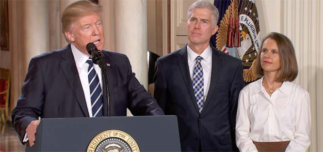 The left's boogeyman vision of Gorsuch