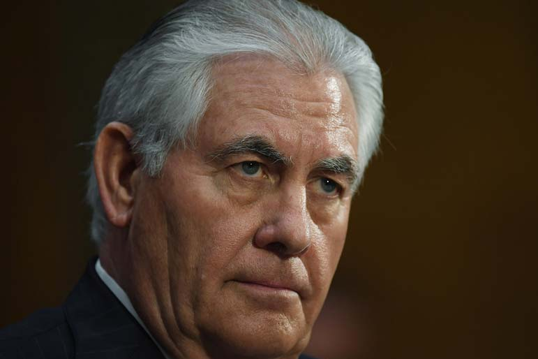 All eyes are on Rex Tillerson