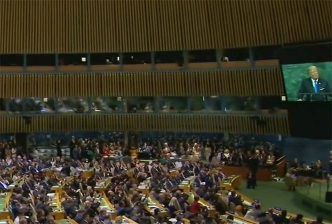 Trump's presence at the UN General Assembly was reassuring