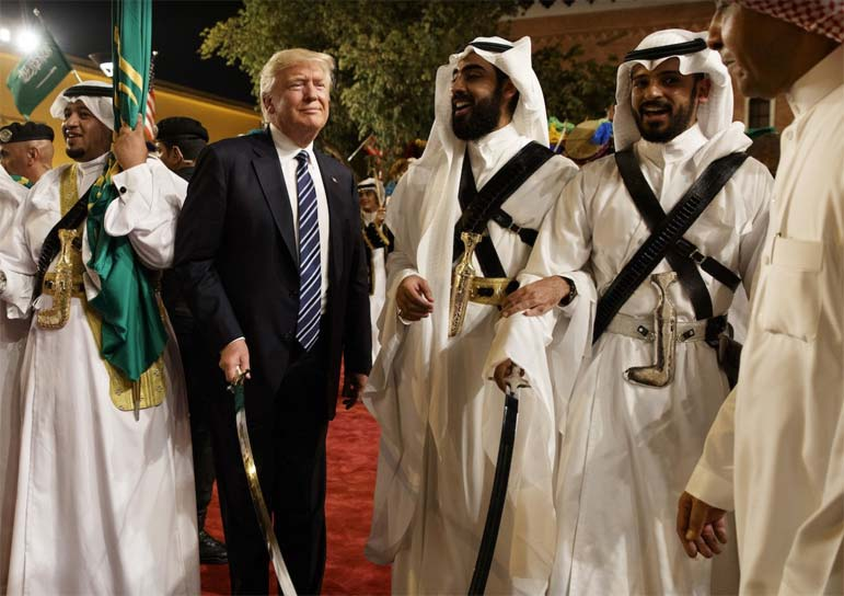 Trump 's warm welcome in Middle East is no surprise