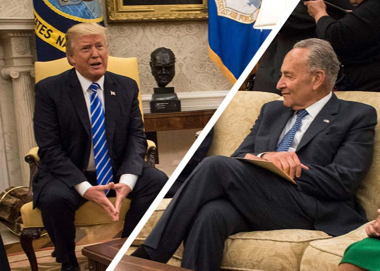 Sen. Schumer and Rep. Pelosi should give Trump his wall --- on one condition