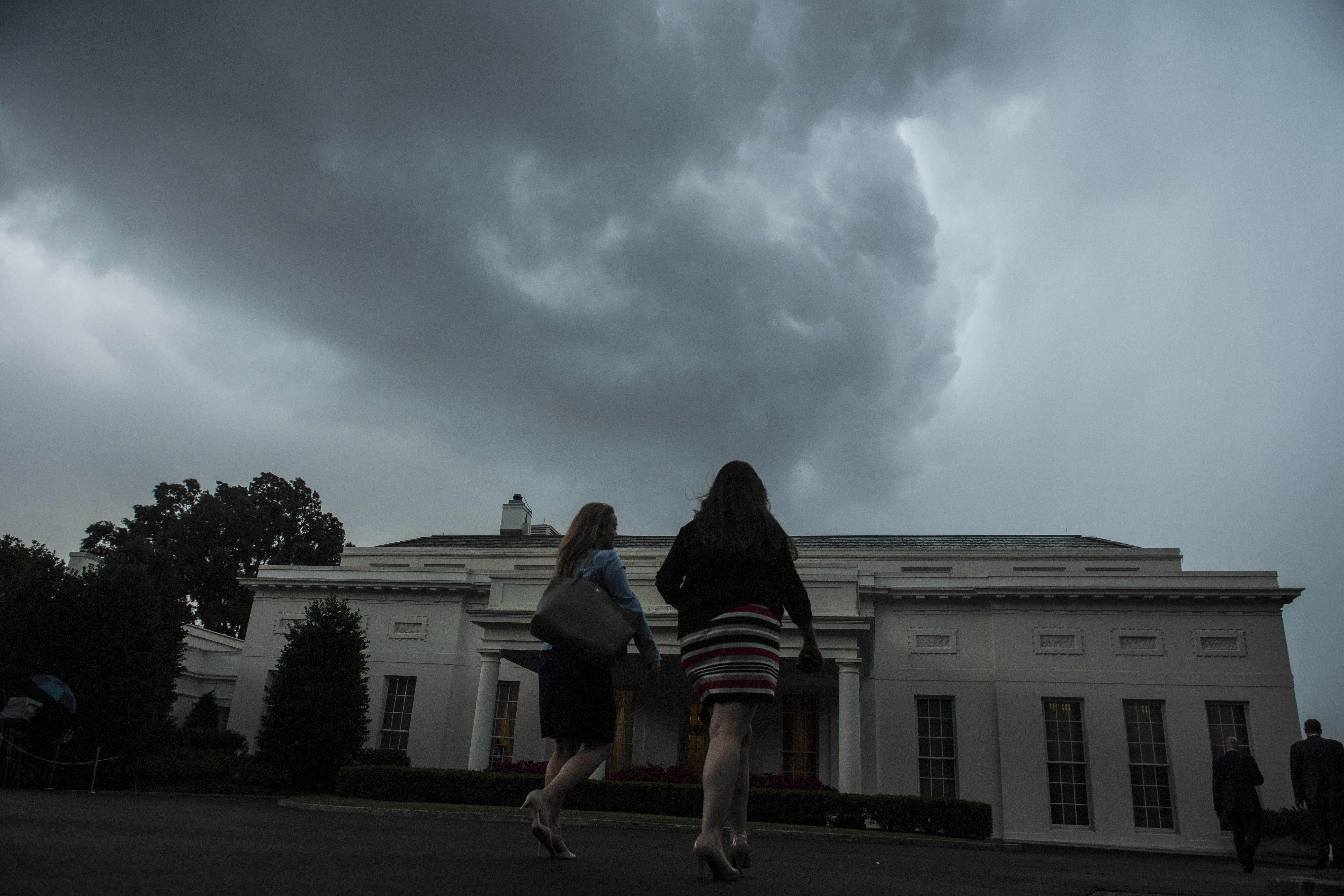 Stormy Weather Over the White House