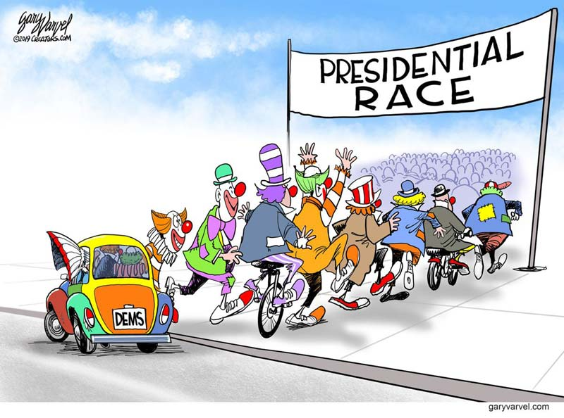 The 2020 Dem circus is coming to town. Republicans should just watch and wait